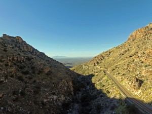 Mt. Lemmon, AZ Highway by drone