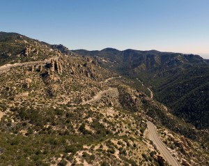 Mt. Lemmon, AZ Geology Point by drone