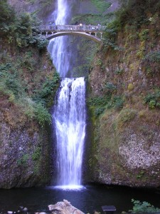 Water Fall on Columbia River Gorge, Portland, Oregon