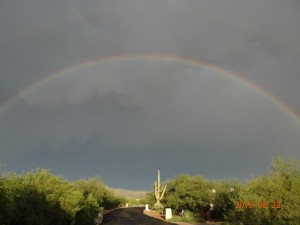 August 2015 Tucson monsoon rainbow from ground