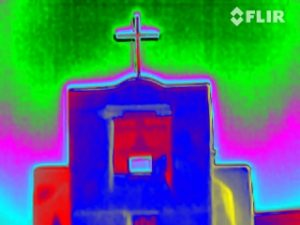 San Miguel Chapel, Santa Fe, NM (Oldest Church In the US-In in infrared)