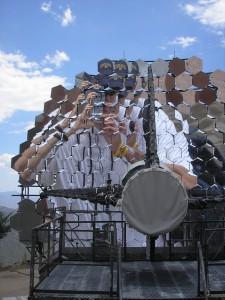 Dr. Blake's image on retired blazar telescope Whipple Observatory Amato, AZ
