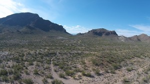 Tucson Mountain Park by drone.
