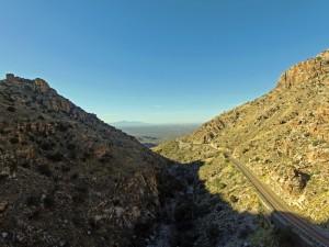 Mt. Lemmon, AZ Highway by drone